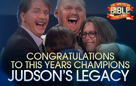 Congratulations to Team Judson's Legacy