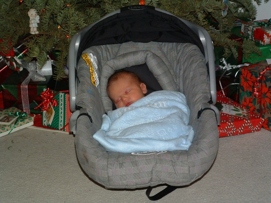 Judson Under the Christmas Tree